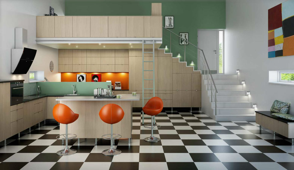 mid 60s mod norwegian kitchen interior design ideas