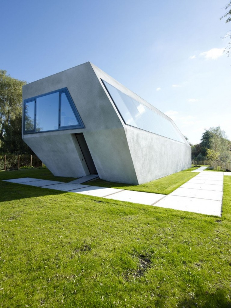 Front Elevation Glass Designs For Home : Unconventional house vmx s minimalism marries ruralism