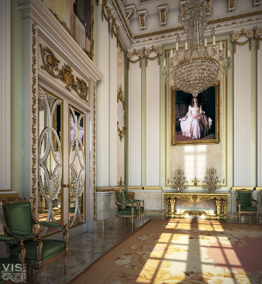 Palace like interiors for Interiors design photos