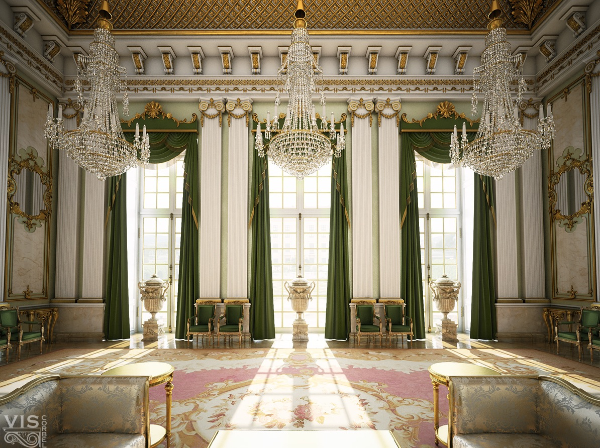 Palace like interiors - Latest interior curtain design ...