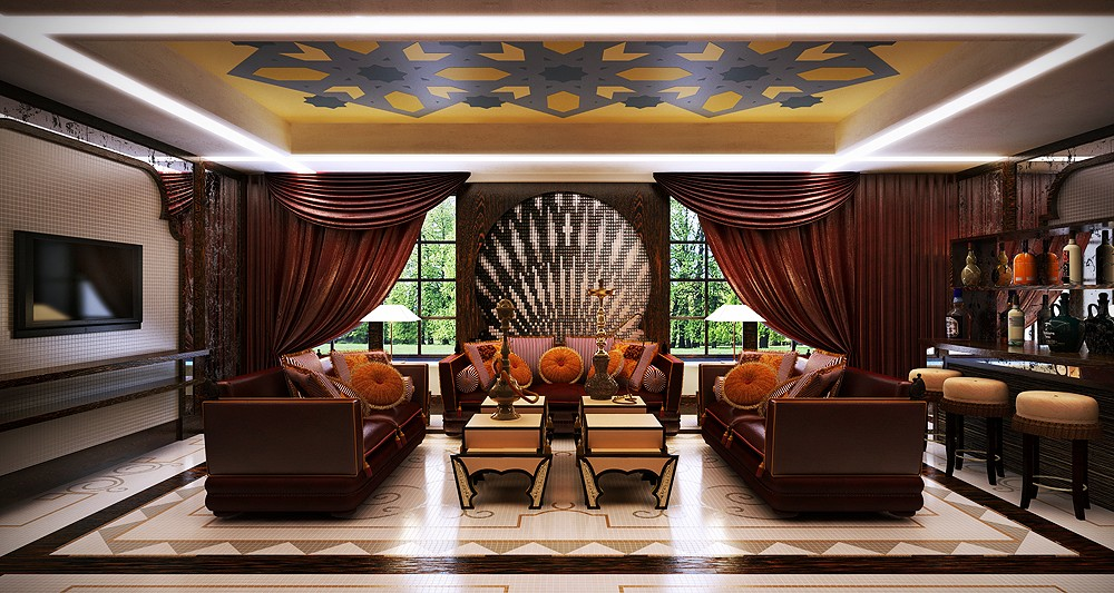 Palace like interiors for Royal interior living room