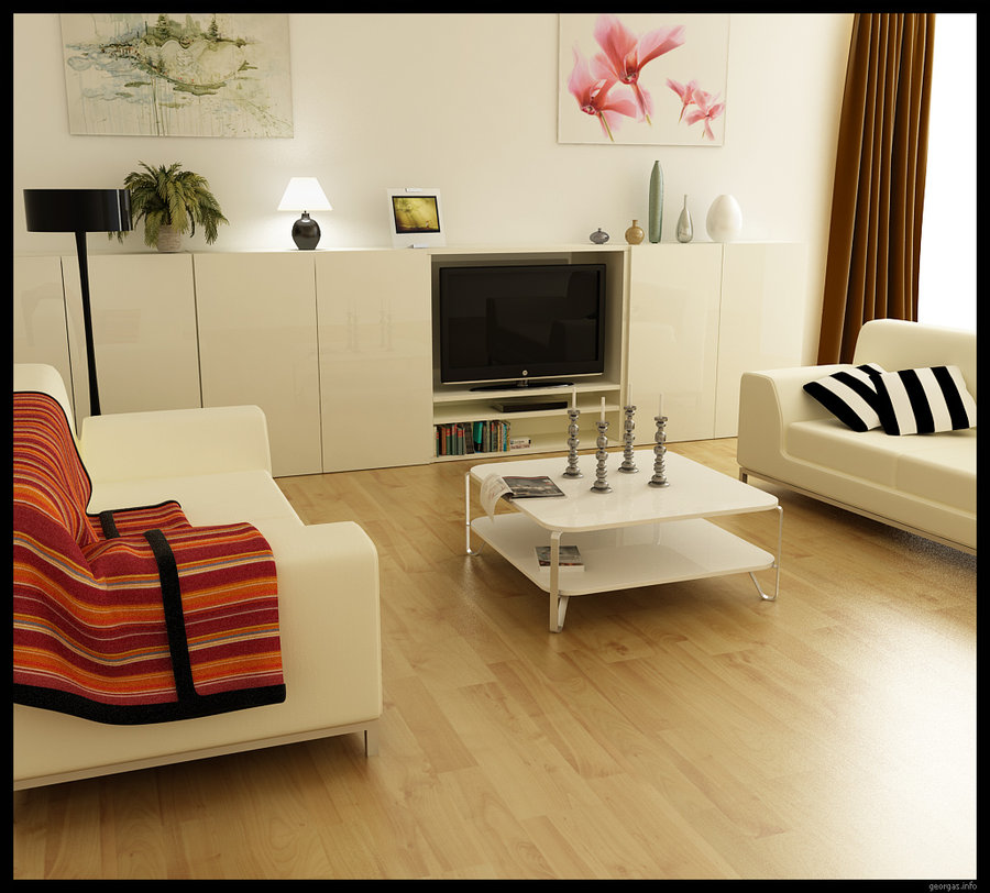 Modern living rooms for Small modern living room designs
