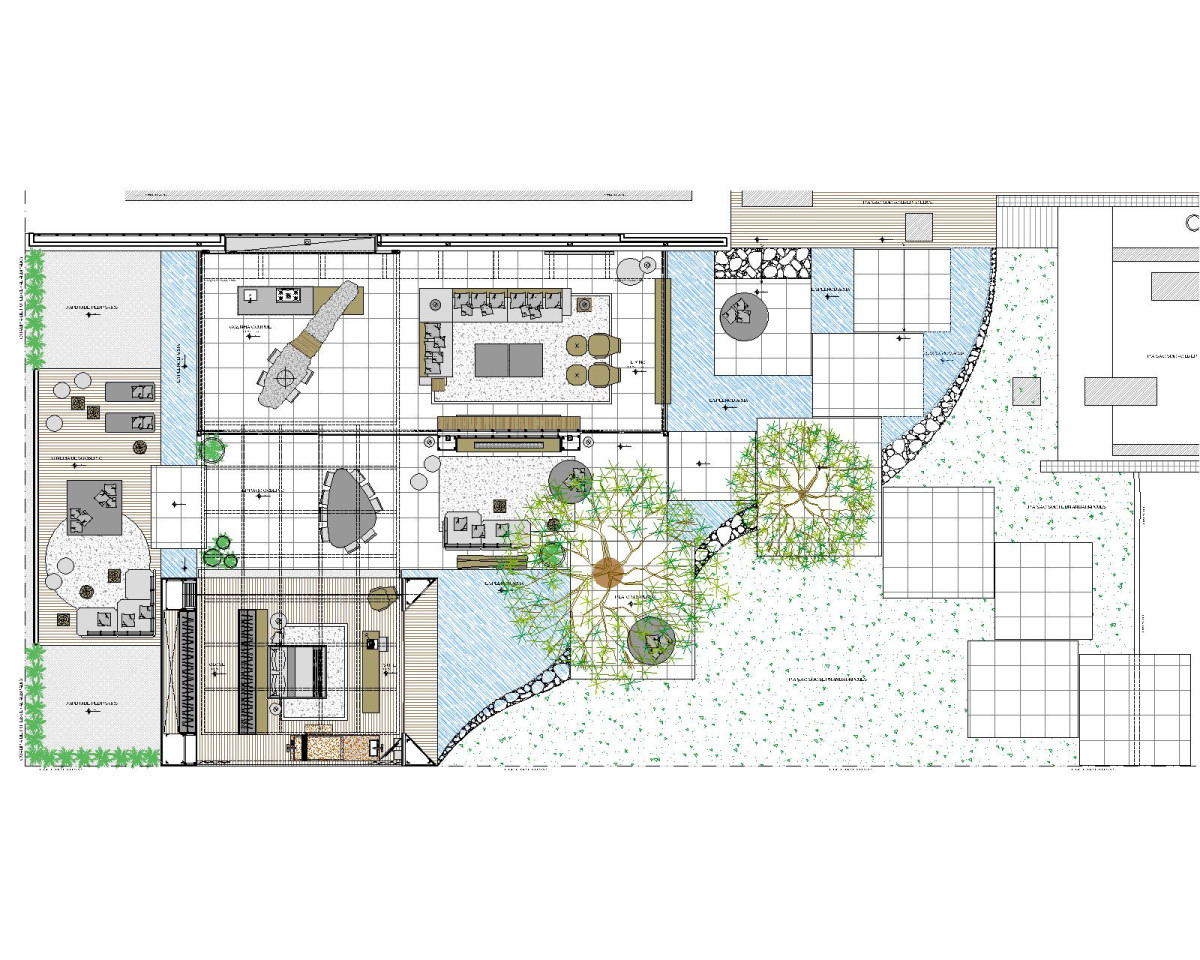 Garden Design Birds Eye View bird's eye view sketch of indoor outdoor house | interior design