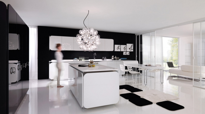 Simple Modern Kitchen Black And White Design Follow Us Intended