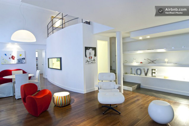 milan loft living area