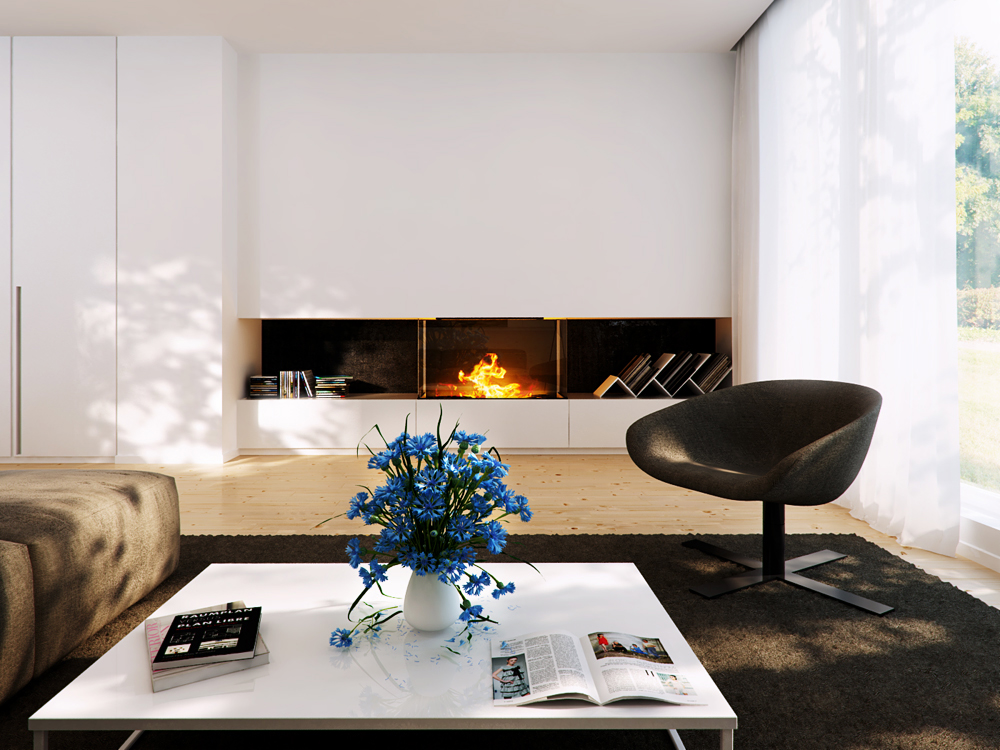 Fireplace Designs One Of 5 Total Pics Contemporary Gas Fireplace ...