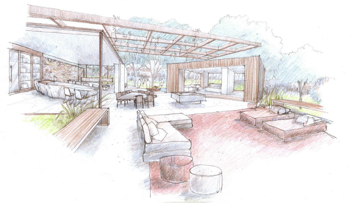Outdoor indoor house sketch interior design ideas for Interior design house outside