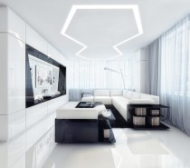 white and black entertainment room