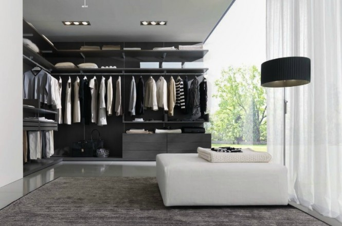 white and grey closet