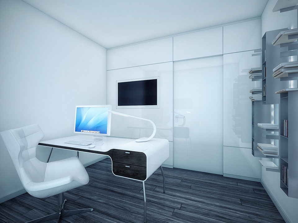 White office area interior design ideas for Modern office area