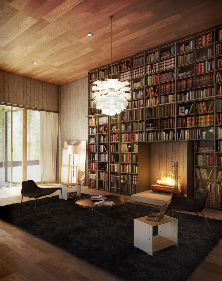 Library inspiration Home interior book