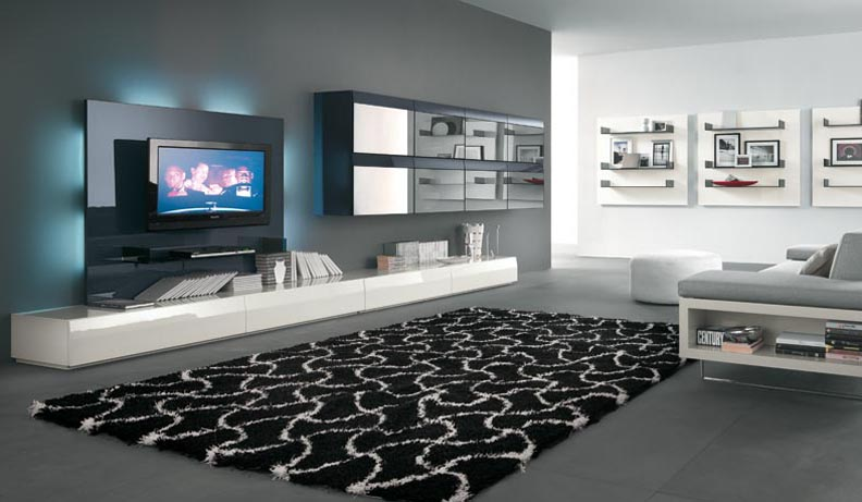 Modern tv wall units Wall tv console design