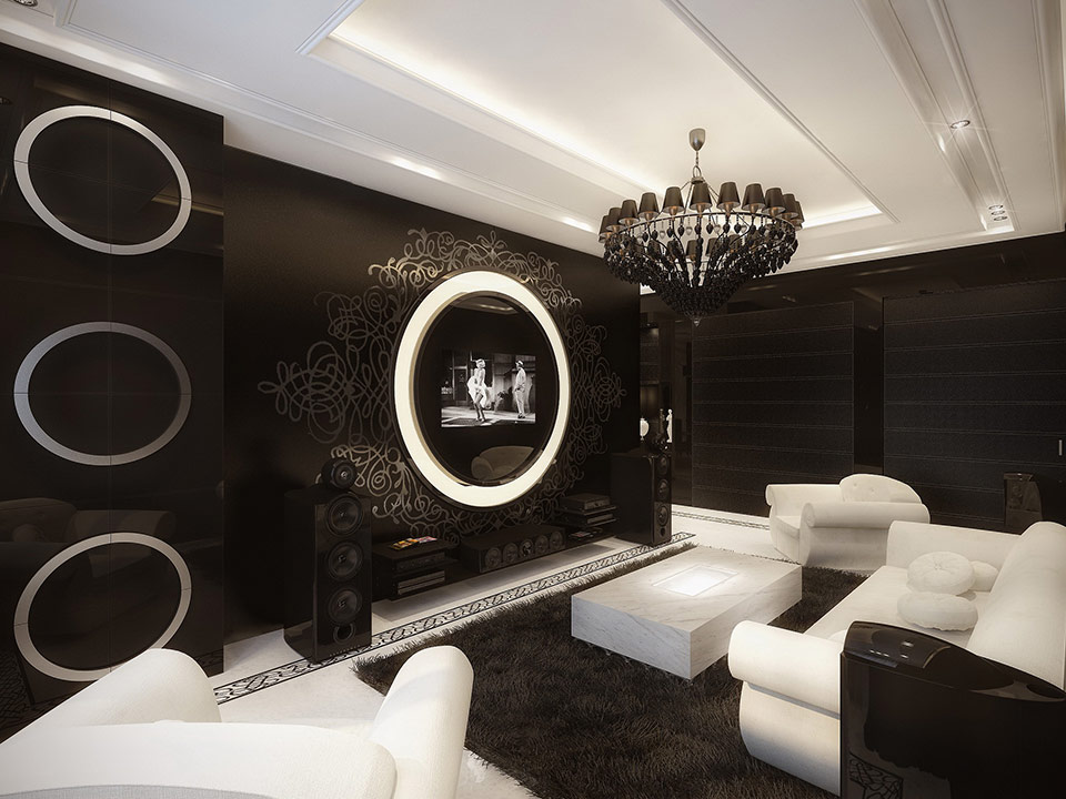 black and white living room 2 | Interior Design Ideas.