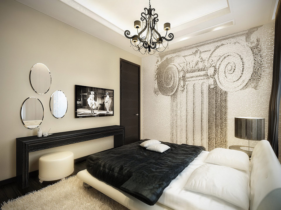 Modern Vintage Apartment Oozes Luxury Enchanting Apartment Bedroom Design Ideas
