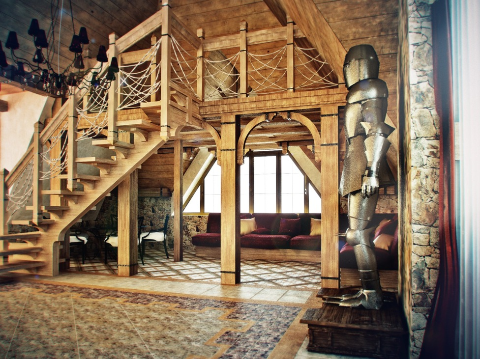 Castle themed interiors for Medieval home plans