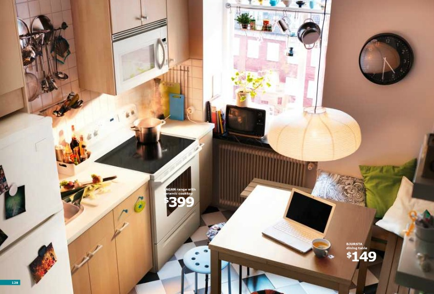 Ikea small kitchen and breakfast nook interior design ideas - Small space solutions ikea style ...