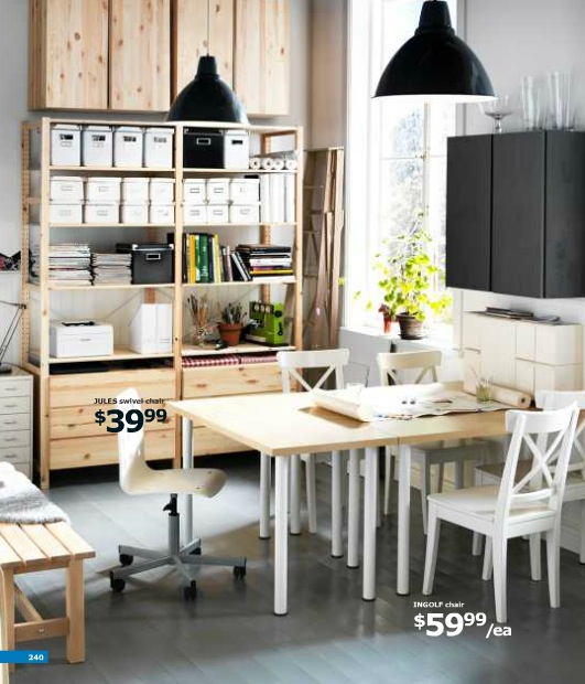 ikea small workspace