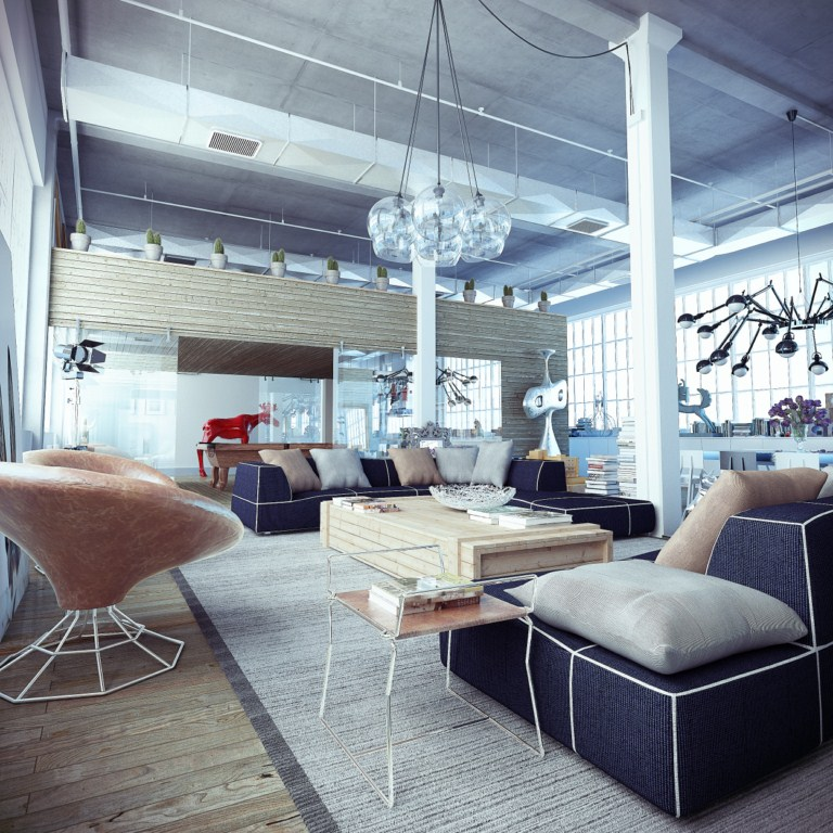 Industrial Loft With Whimsical Decor Interior Design Ideas