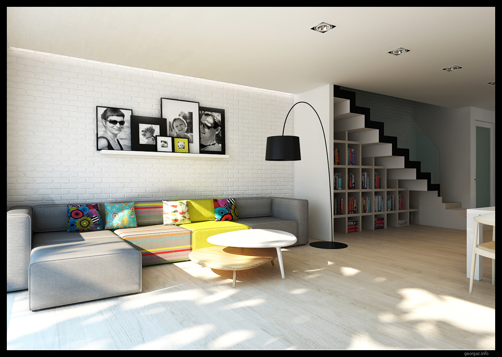 Classy modern interiors visualized by greg magierowsky - Contemporary house interior ...