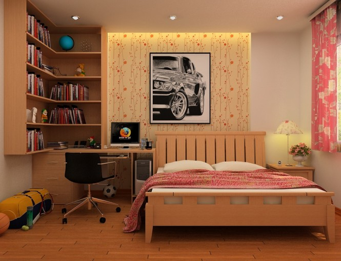 nguyen orange kids bedroom