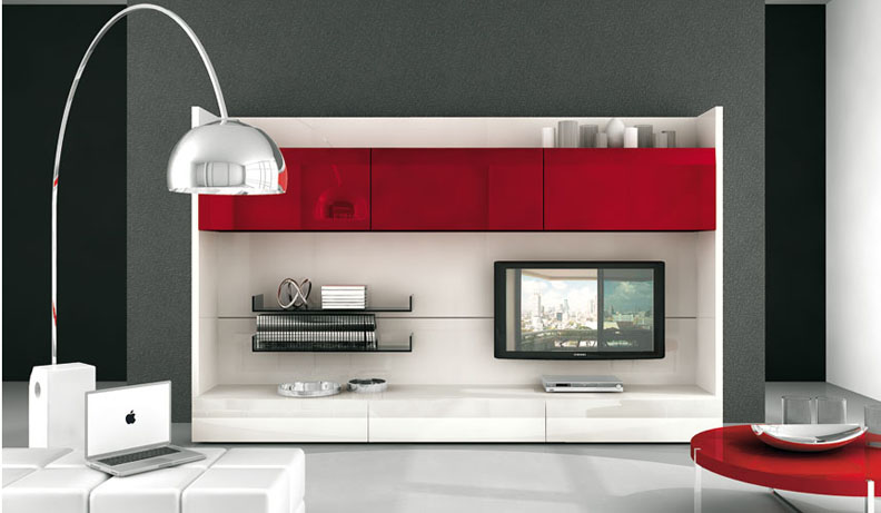 Modern tv wall units - Muebles para television modernos ...