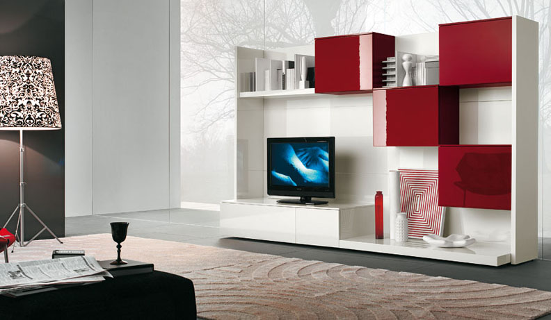 Modern tv wall units Interior design tv wall units