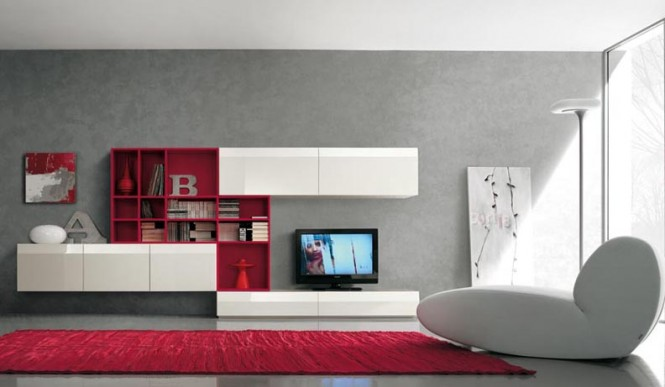 white and red tv wall mount