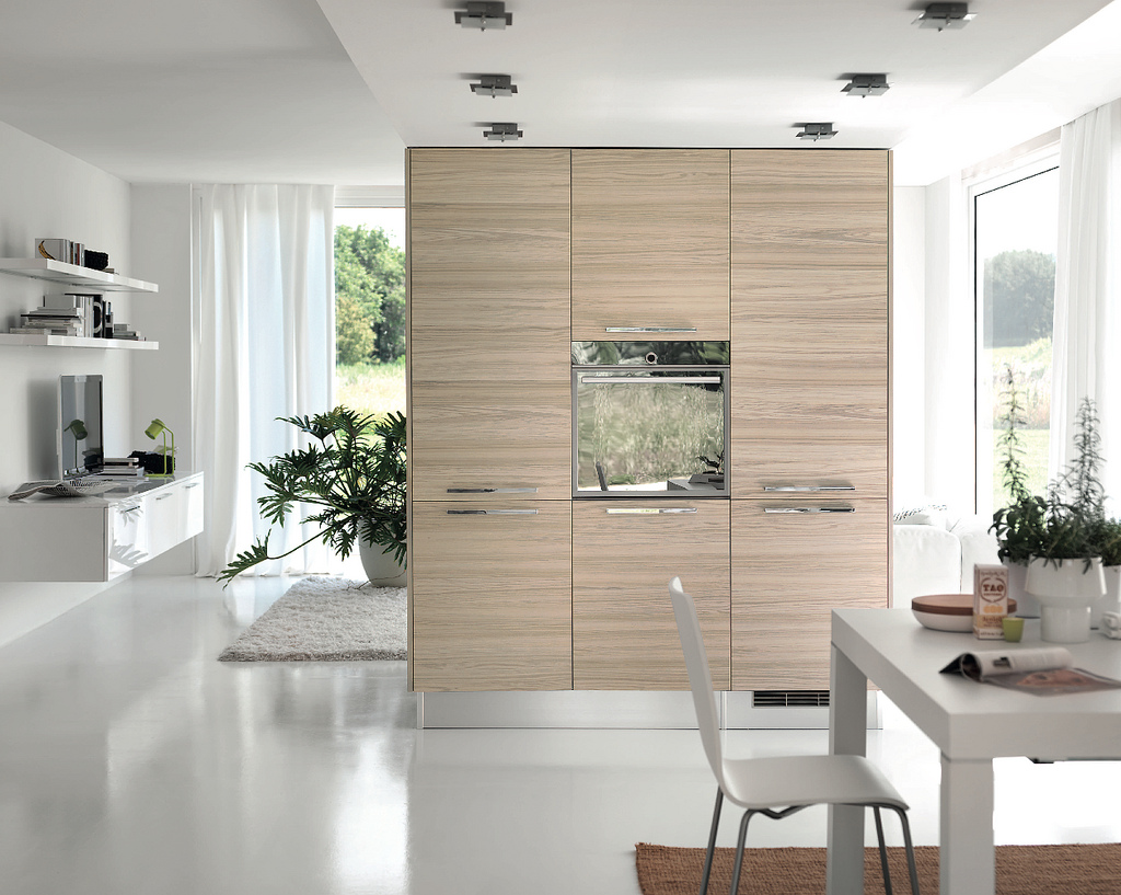 Modern White Kitchens With Wood contemporary kitchen in white fixed window as a splashback sink