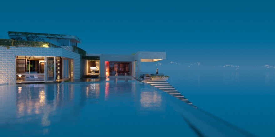 infinity pool beach house. White Stone House With Infinity Pool Near Beach D