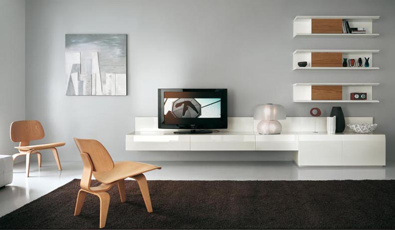 modern tv wall units - Living Room Colour Schemes 2011
