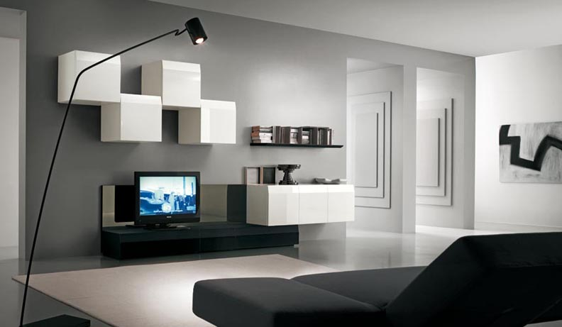 Modern tv wall units for Armoire couloir design