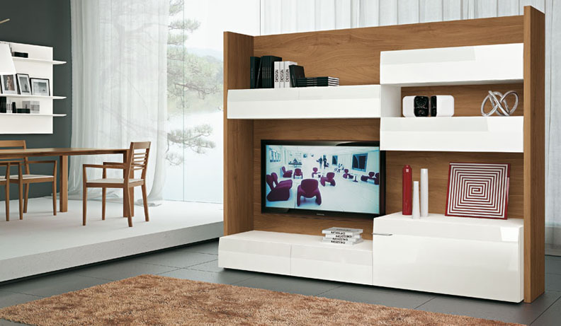 Modern TV Wall Units : wood and white tv 2 from www.home-designing.com size 792 x 461 jpeg 134kB