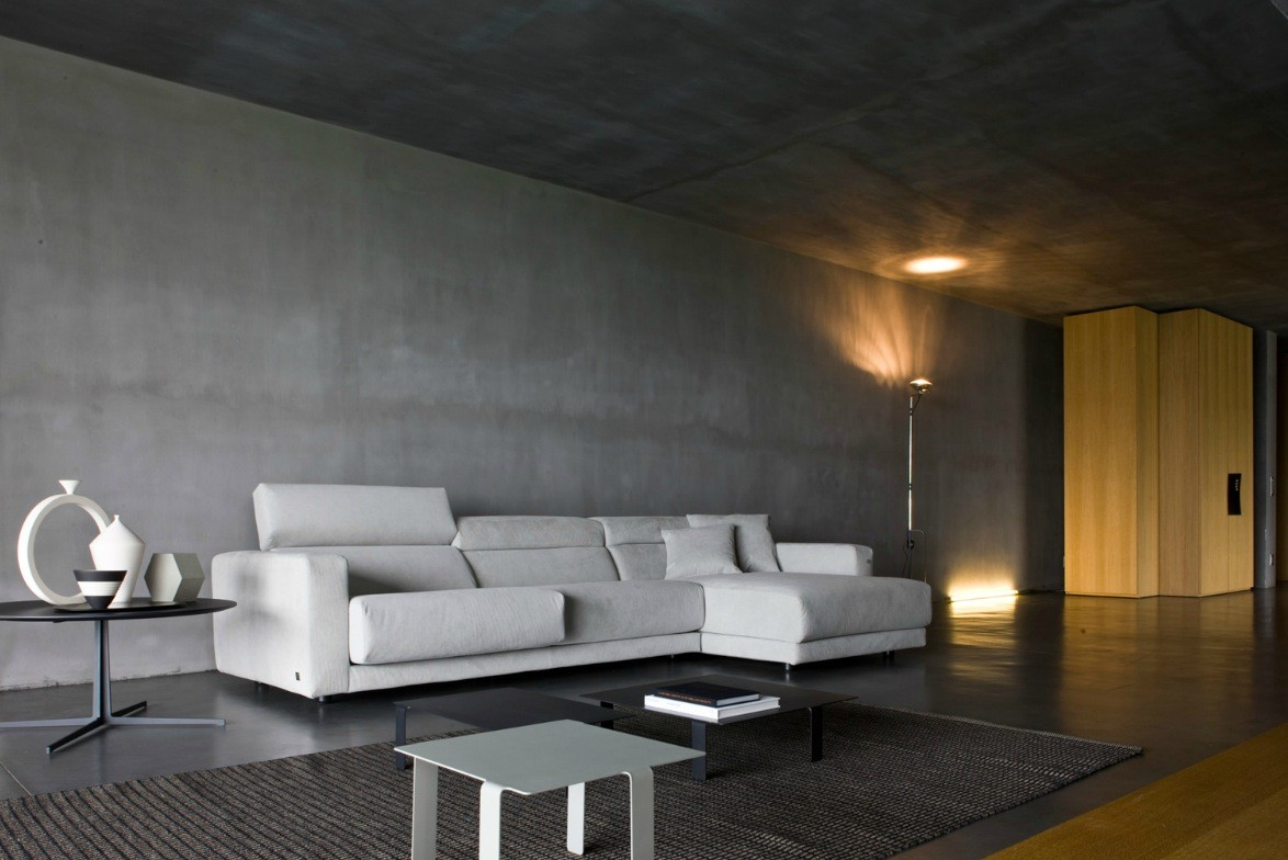 Luxury living rooms from busnelli for Black room design