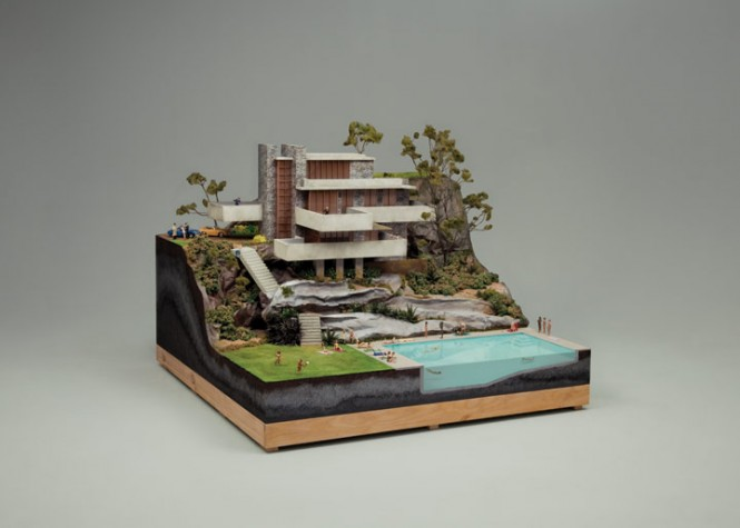Creative Recreations Of Frank Lloyd Wrights Falling Water
