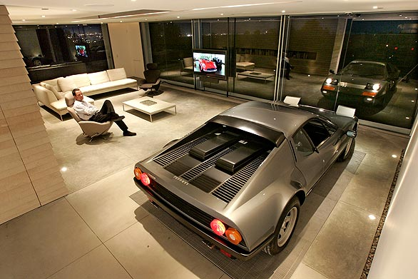 Cars parked inside homes pretty or pretty weird for Living room garage