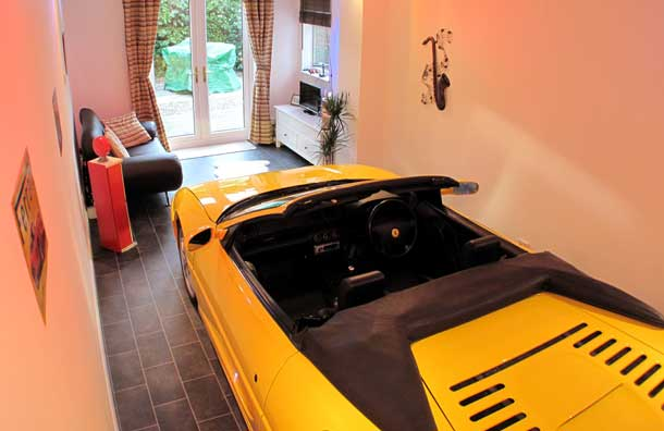 Cars Parked Inside Homes Pretty Or Pretty Weird