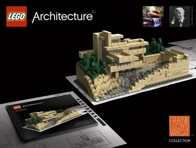 Creative recreations of frank lloyd wright 39 s falling water - Lego falling waters ...