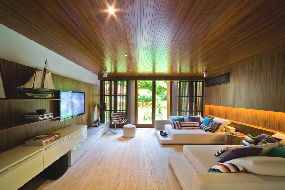Luxury Wooden Living Room