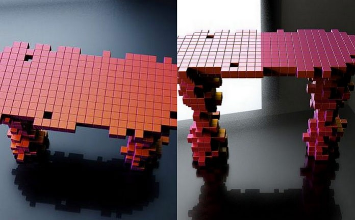 pixel tables interior design ideas