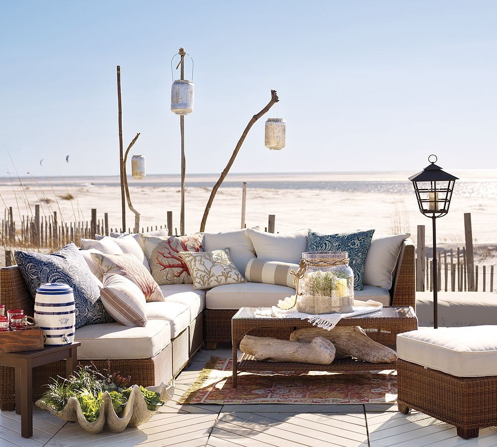 Pottery barn beach furniture 2 interior design ideas for Beach decor ideas living room