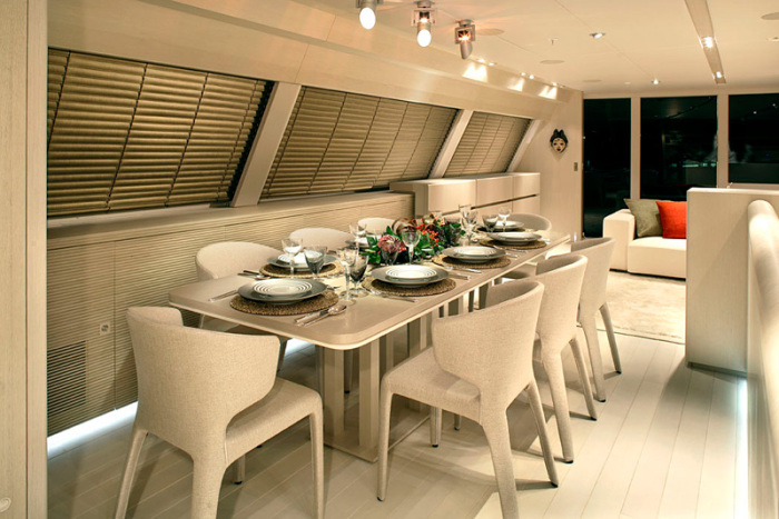 Red Dragon Yacht Dining Table