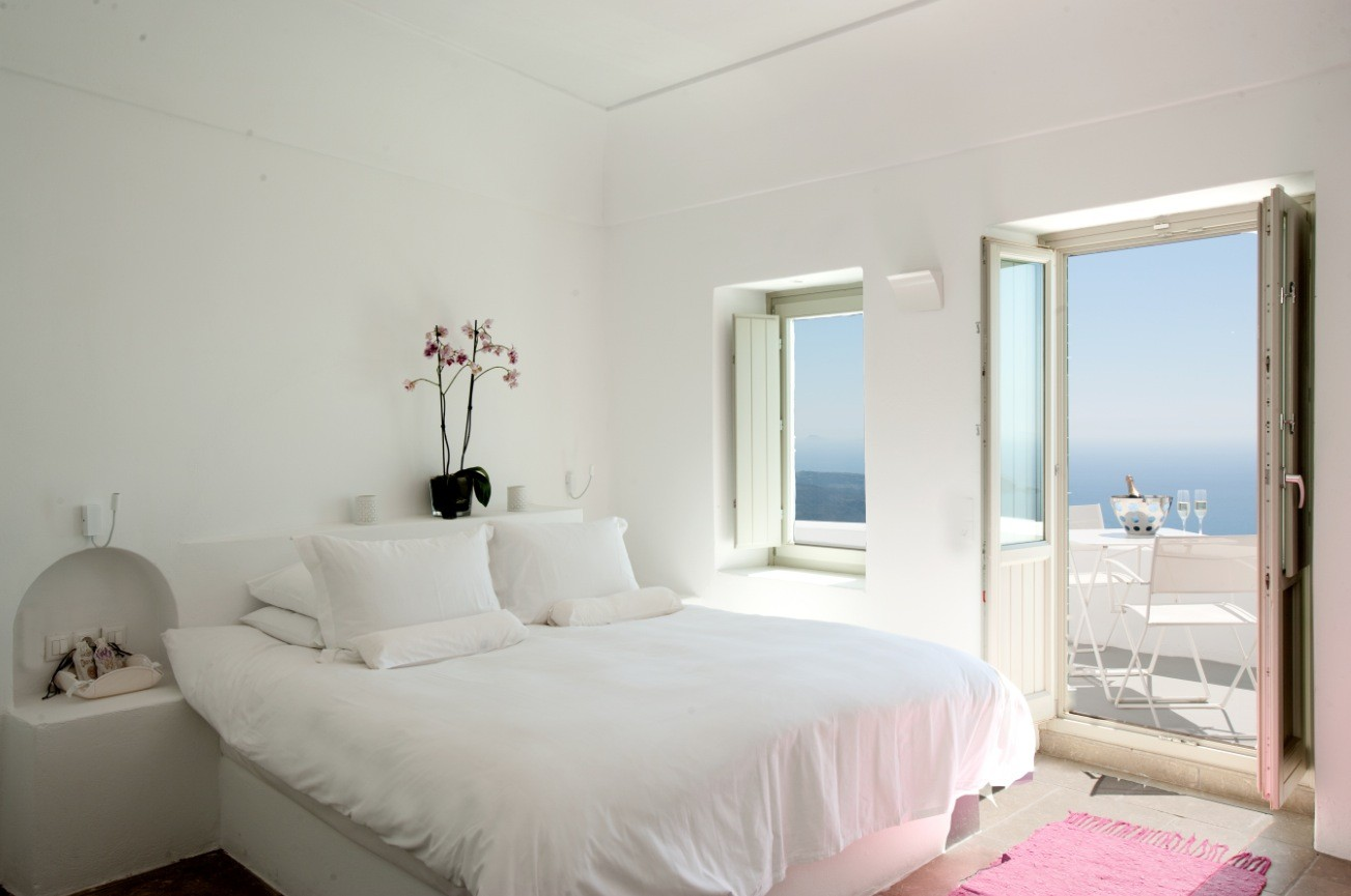 Santorini Grace White Bedroom With
