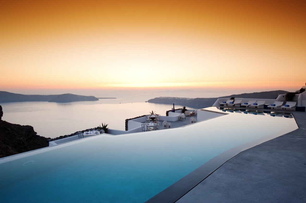 The sensational grace hotel santorini islands - Santorini infinity pool ...