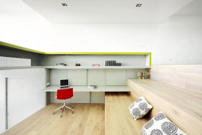 step apt lime and white office
