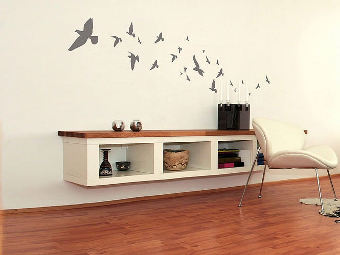 Wall Sticker Flock Of Birds Interior Design Ideas - Interior design wall stickers