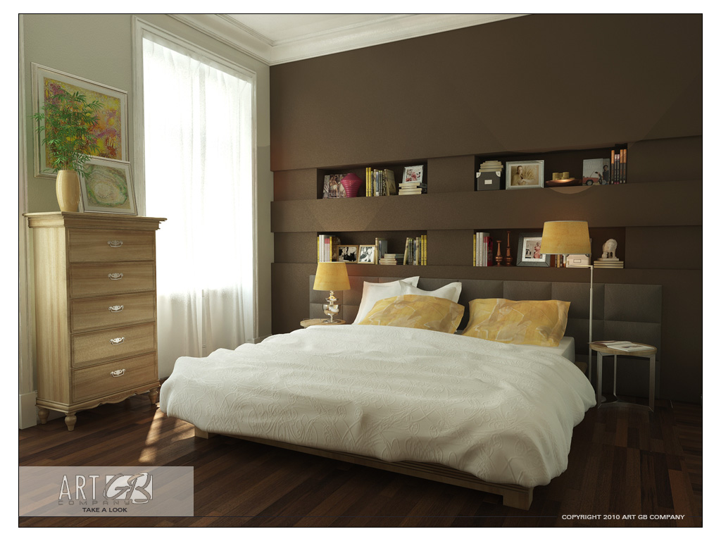 Bedroom Colors with Wood Walls