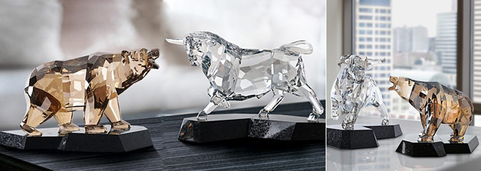 Bull And Bear Swarovski Decorations Interior Design Ideas