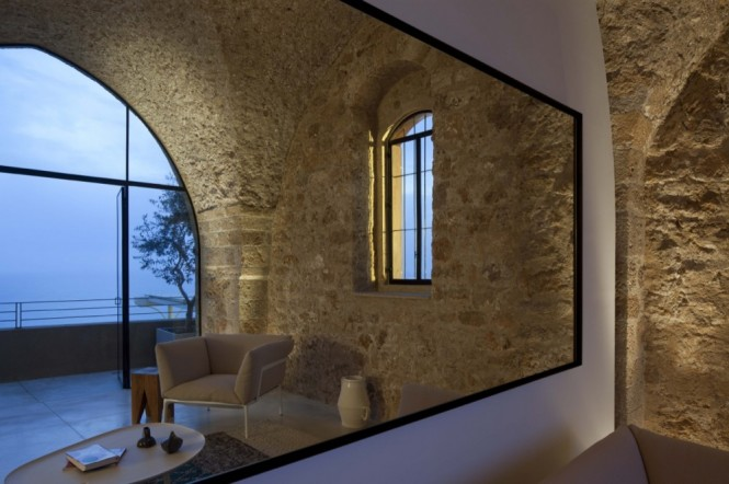 castle house mirror in living room