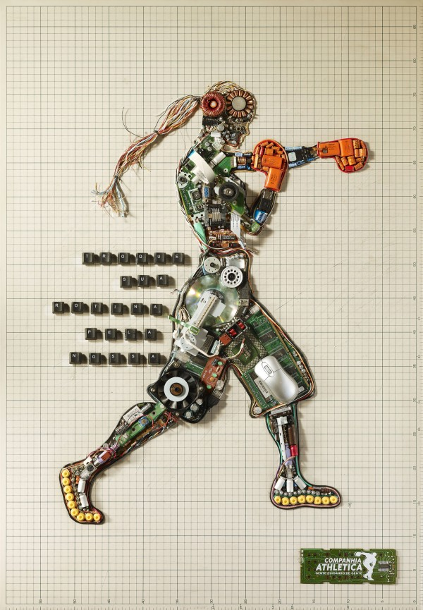 Stunning Wall Art Created From Electronic Components