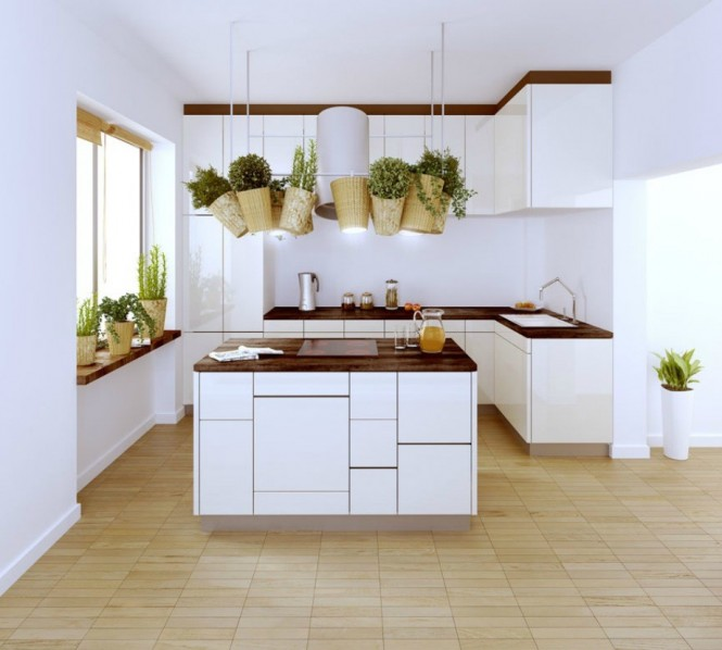 polish firm white and wood kitchen